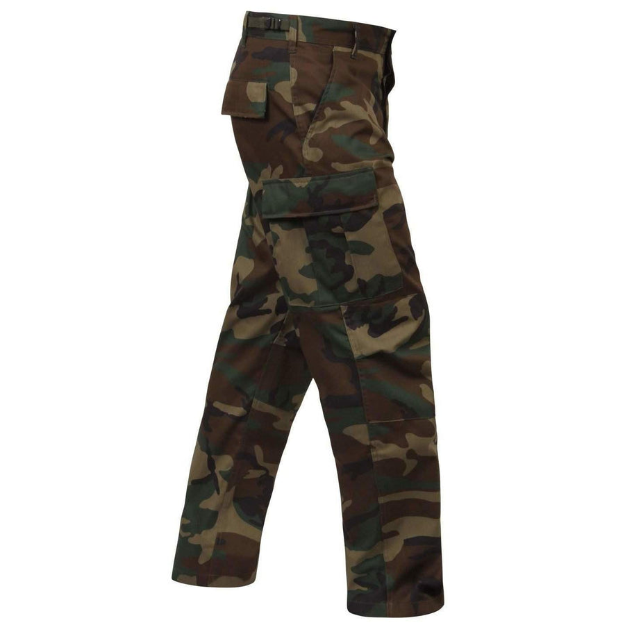 Rothco Woodland Camo Relaxed Fit Zipper Fly BDU Pants - Rothco - OPSGEAR