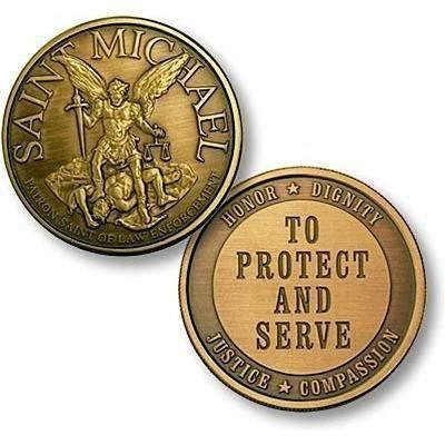 Saint Michael To Protect Bronze Antique Coin - OPSGEAR