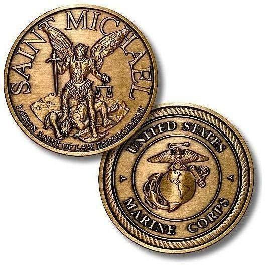 Saint Michael - USMC Bronze Antique Coin - OPSGEAR