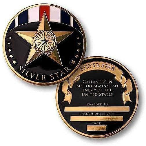 Silver Star Medal Challenge Coin - OPSGEAR