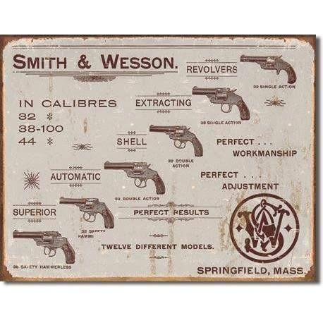 Smith & Wesson - Revolvers Vintage Tin Sign - OPSGEAR