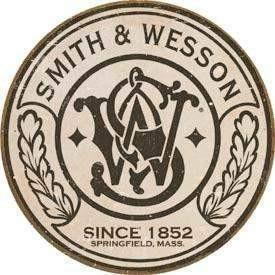 Smith & Wesson Round Logo - Vintage Tin Sign - OPSGEAR