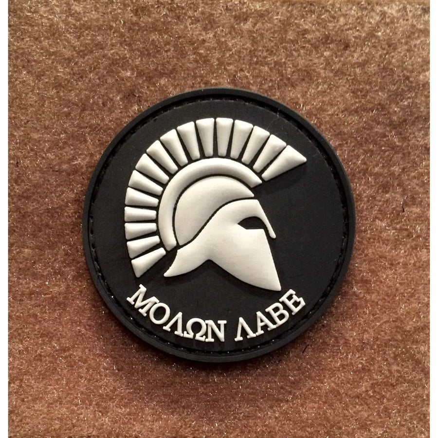 Spartan MOLON LABE Side View Circle PVC Morale Patch - OPSGEAR
