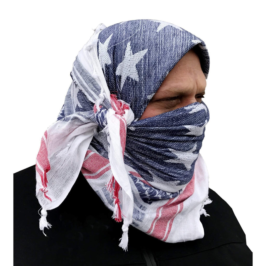 Stars and Stripes Shemagh Tactical Desert Scarf - OPSGEAR