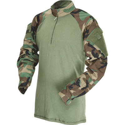 TRU-SPEC 1/4 Zip TRU Nylon/Cotton Combat Shirt - CAMO COLORS - OPSGEAR