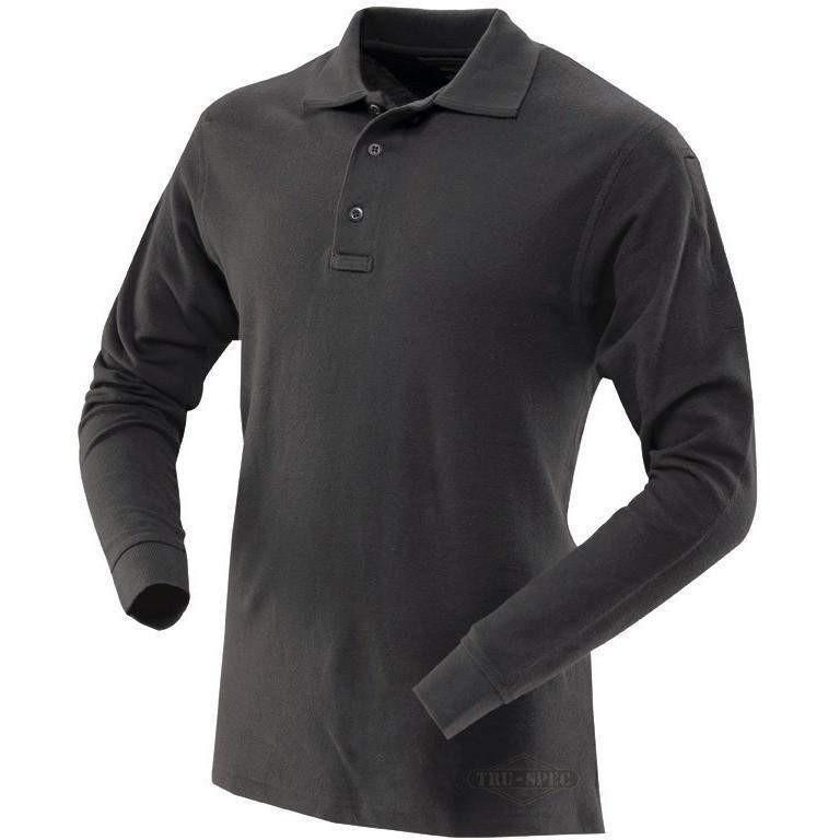 TRU-SPEC 24-7 Men's Long Sleeve Classic 100% Cotton Polo - OPSGEAR