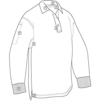 TRU-SPEC 24-7 Men's Original Long Sleeve Polo - OPSGEAR