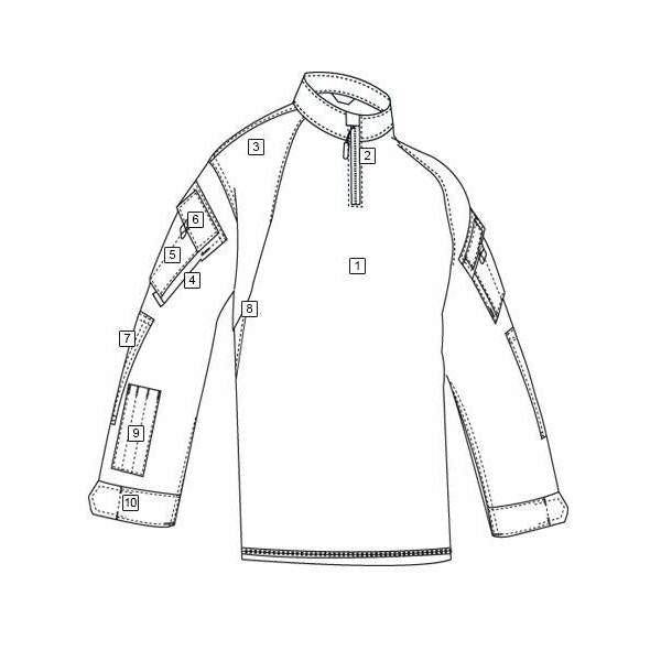 TRU-SPEC Tactical Response Uniform (TRU) 1/4 Zip Combat Shirt - Poly/Cotton - OPSGEAR