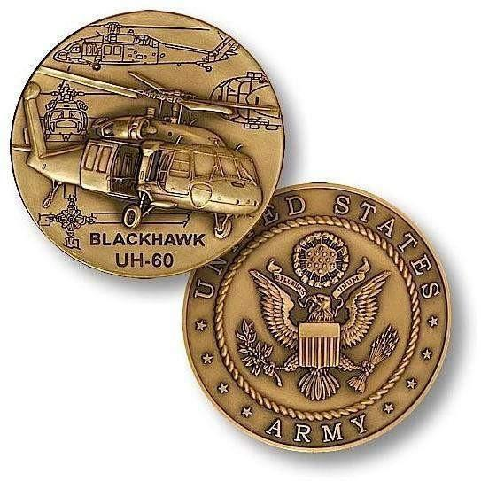 UH-60 Blackhawk Helicopter Challenge Coin - OPSGEAR