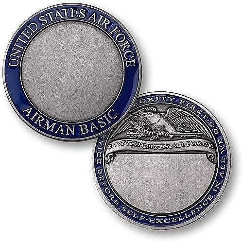 U.S. Air Force Airman Basic Engravable Rank Coin - OPSGEAR