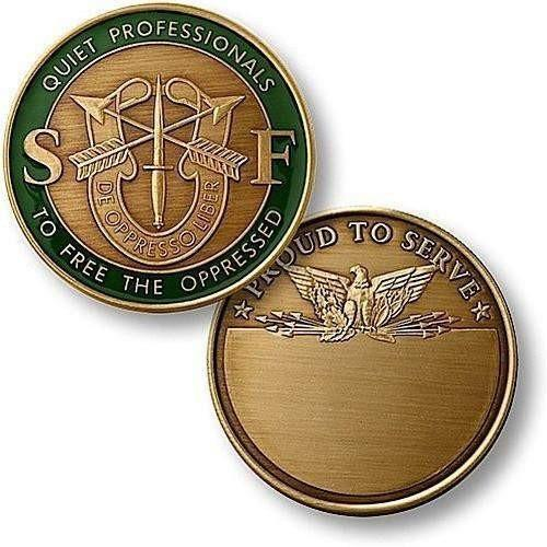 U.S. Army Special Forces Bronze Antique Coin - OPSGEAR