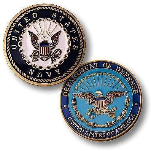 US Navy Challenge Coin - Enamel - OPSGEAR