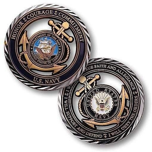 US Navy - Core Values Challenge Coin - OPSGEAR