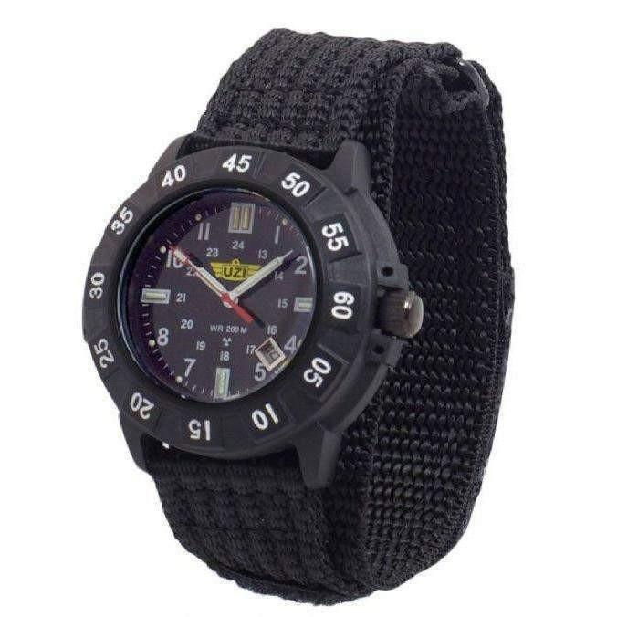 UZI Protector Tritium Watch with Nylon Strap - Black - OPSGEAR