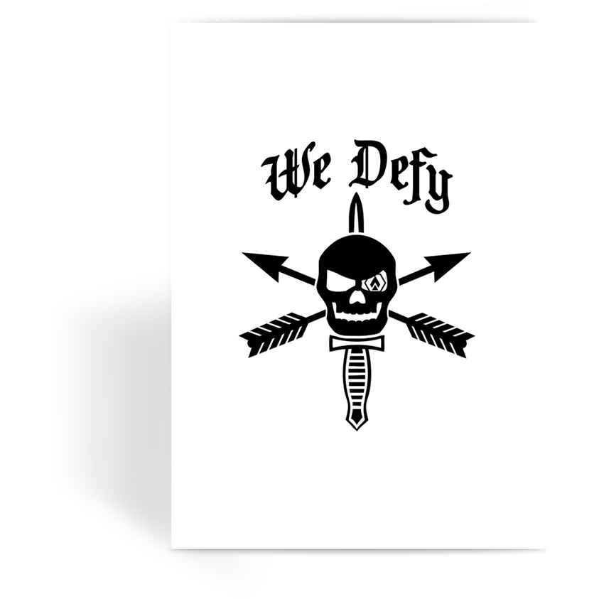 We Defy Greeting Card - OPSGEAR