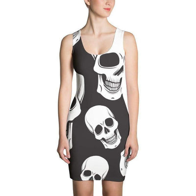 Women's Black and White Skull CAMO Dress - OPSGEAR