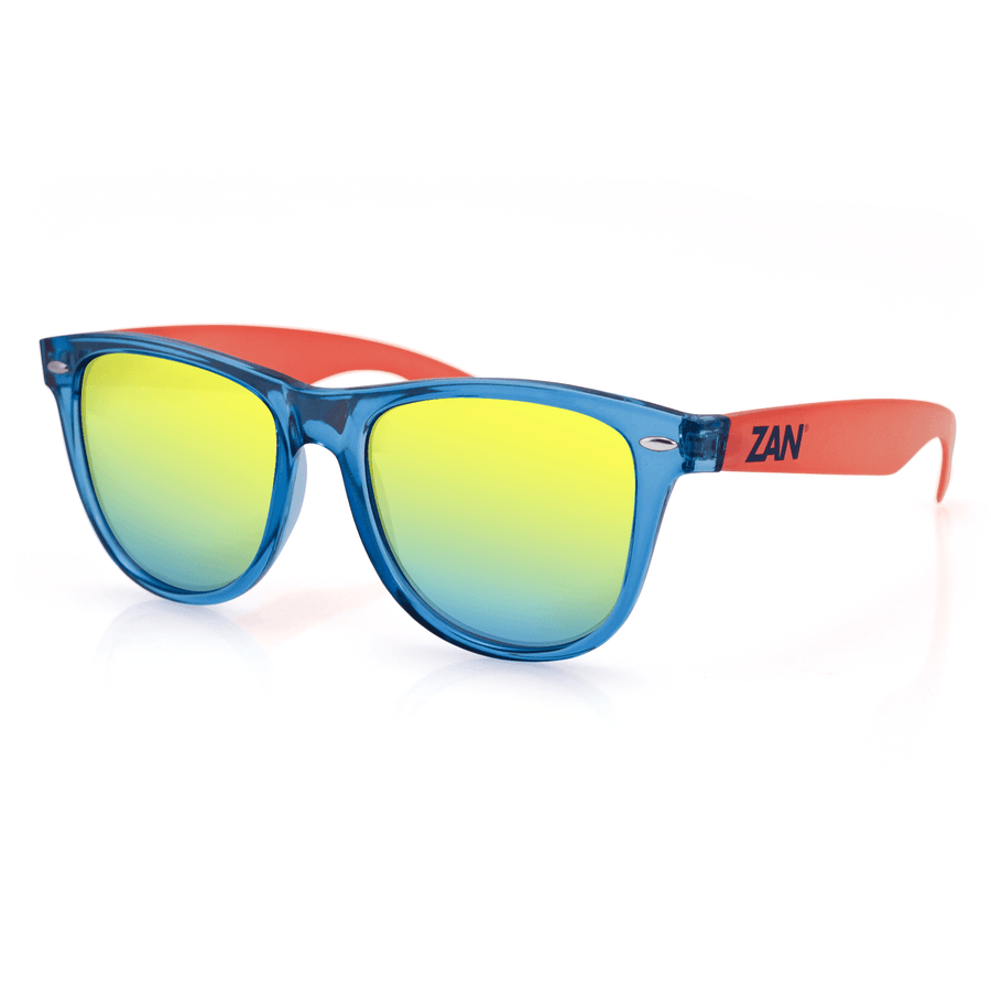 ZAN Throwback Minty Sunglasses Blue & Orange Frame - OPSGEAR