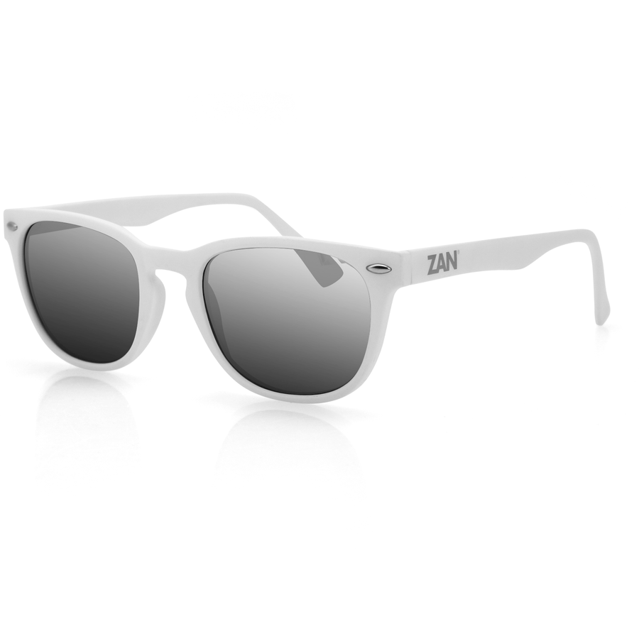 ZAN Throwback NVS Sunglasses Matte White Frame - OPSGEAR