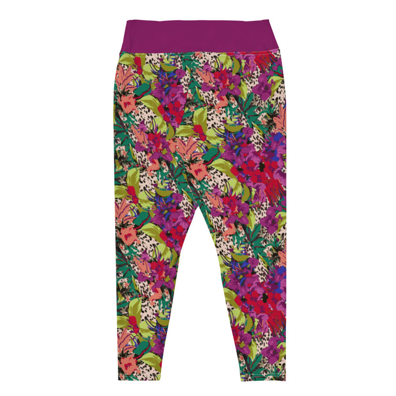 Peony Plus Size Yoga Leggings