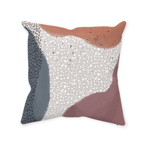 Abstract Polka Dot Pillow