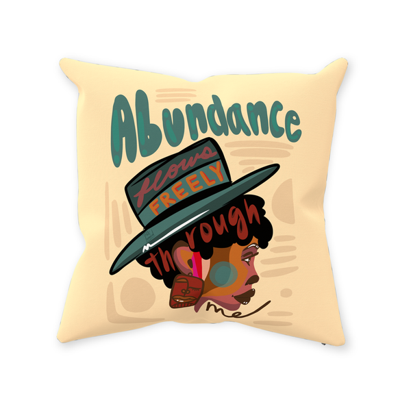 Abundance Flows Freely Pillow