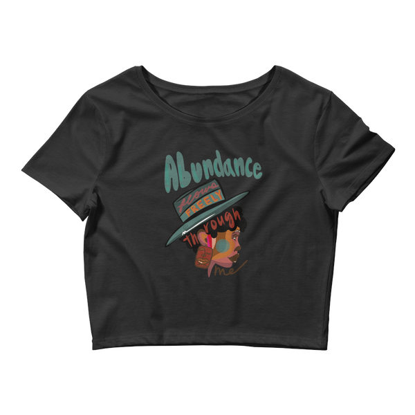 Abundance Flows Freely Crop Tee