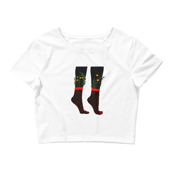 Dancing Feet Crop Tee
