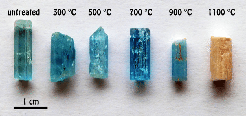 Heat treated stones appear to be of higher quality but are weaker and more brittle in the long run