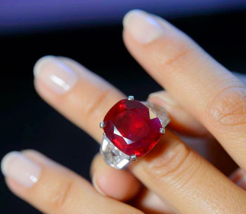 World's most expensive ruby, the pigeon blood red Burmese ruby