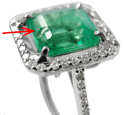 chipped Gemstone - hardness is the most important factor in choosing a stone for your engagement ring