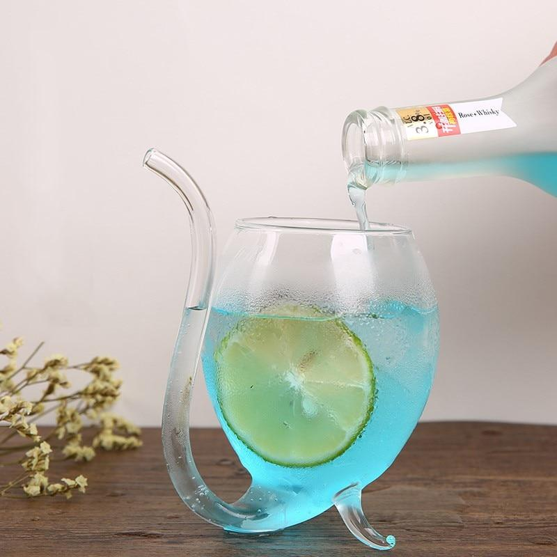 Straw Spout Drinking Glass - TEROF
