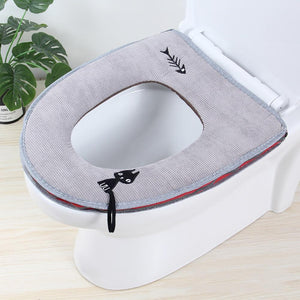 Cat and Fish Toilet Cover - TEROF