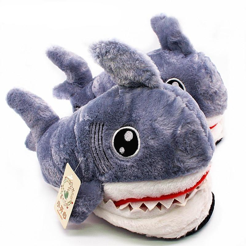 Fuzzy Shark Slippers - TEROF