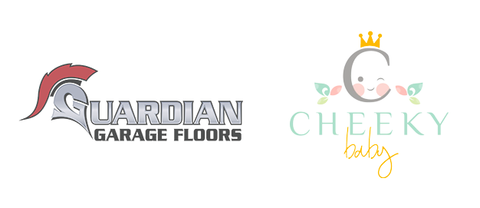 Guardian Garage Floors & Cheeky Baby logos