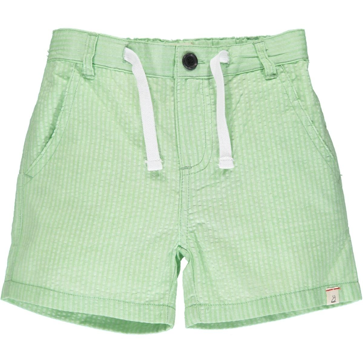 Crew Shorts- Lime Seersucker