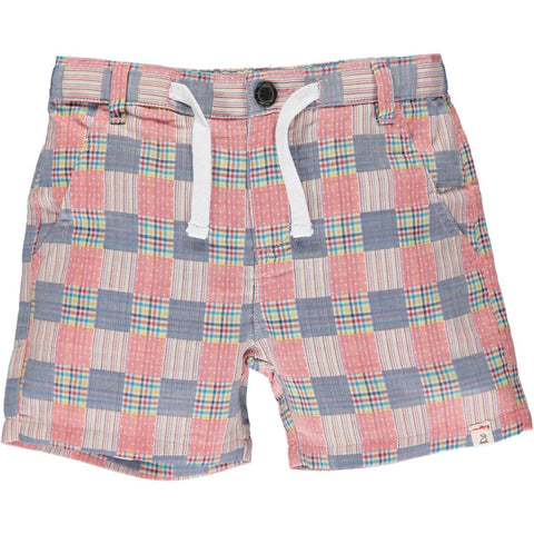 Crew Shorts- Red Patchwork