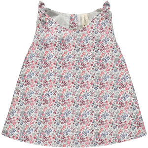 Clover Top- Red Floral