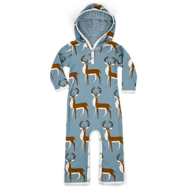 Hooded Romper Blue Buck