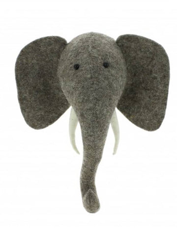 Elephant Head- Light Grey Mini
