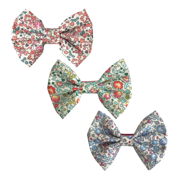3 LIBERTY FABRIC BOWTIE BOWS  – ELOISE