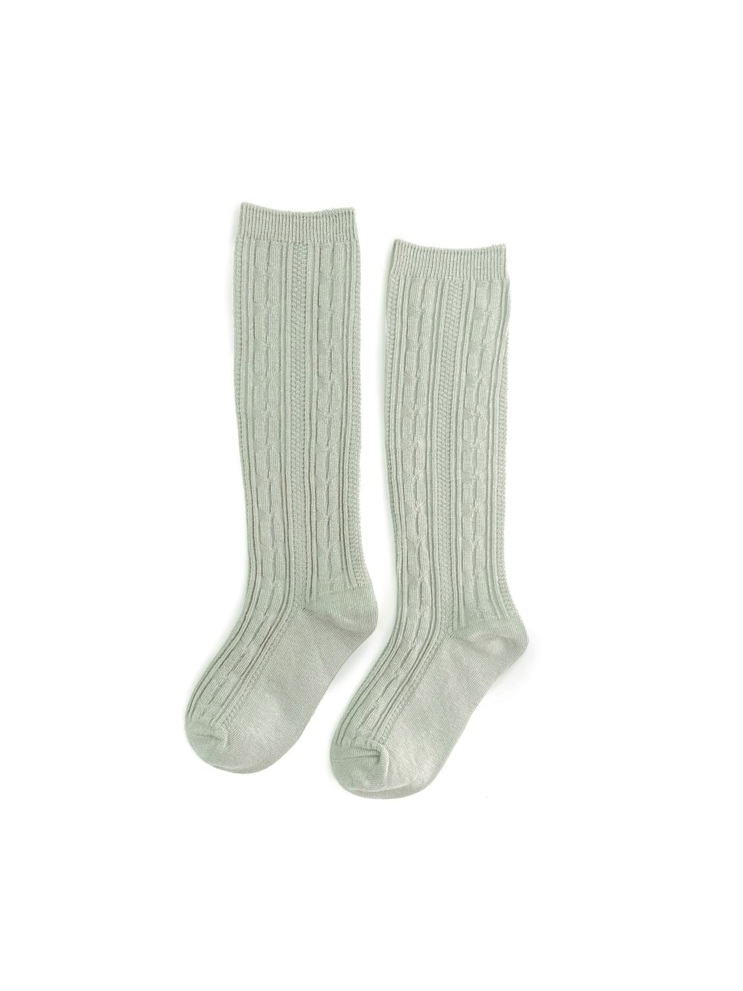 Sage Knit Knee High Socks