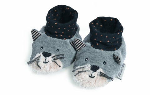 Moustaches Fernand Slippers (0-6m)
