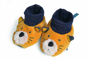 Moustaches Lulu Slippers (0-6m)