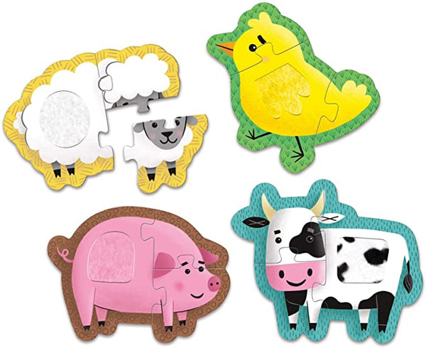 Touch and Feel Puzzle: Farm Animals