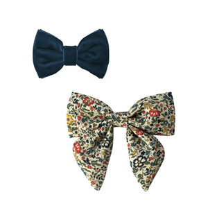 MILLEDEUX® CHRISTMAS GIFT SET – 2 HAIR BOWS – ALLIGATOR CLIP
