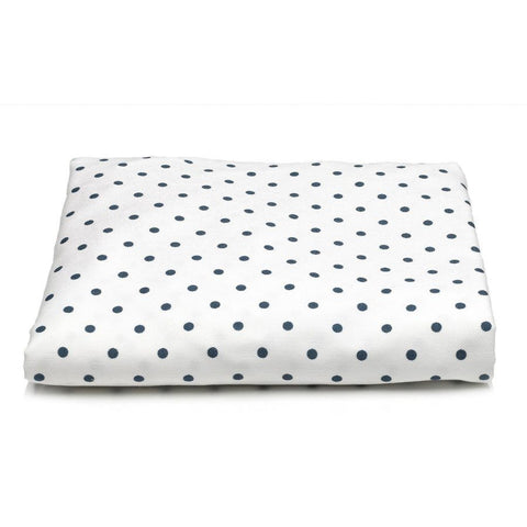 Navy Mini Dot Crib Sheet