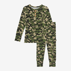 Cadet Long Sleeve Henley Pajamas