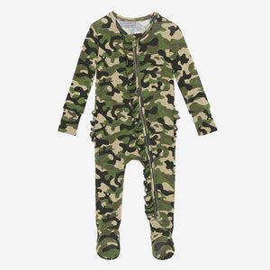 Cadet Footie Ruffled Zippered One Piece