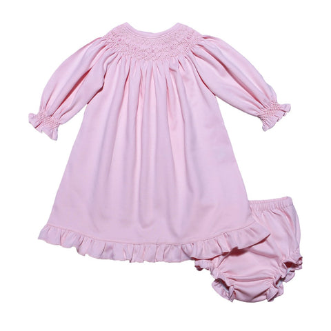 Pink Smock Pima Dress with Bloomers