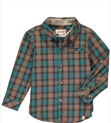 Brown/blue plaid shirt